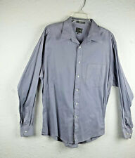 CALVIN KLEIN Mens Shirt Size 16.5 35 Gray 100% Premium Cotton Long Sleeve Gray