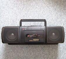SHARP WQ-T202H (BK) Ghettoblaster Stereo Kassettenradio Boombox Twin Tapedeck