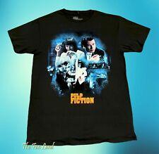 New Pulp Fiction Uma Thurman 1994 John Travolta Black Mens Vintage T-Shirt