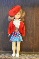 Fabulous VINTAGE Fashion Doll Wearing Red Beret and Coat - 19cm Tall
