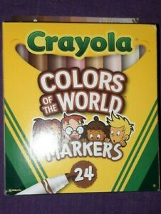 Crayola Colors of the World Markers 24 count NIP