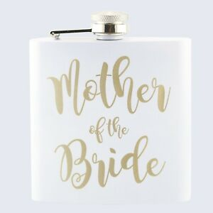 Wedding Mother Of The Bride Bridal Hen Party 6oz Drinks Beverage Hip Flask