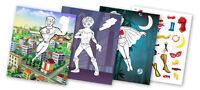 QuackDuck Malbuch Superheroes - Superhelden - Malen und Schneiden mit Aufkleber