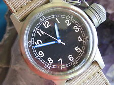 Stainless Steel Military Style Canteen Watch