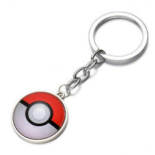 2 x Pokemon Go Keyring Pokeball Ball Logo Keychain Pendant Cartoon Anime Badge