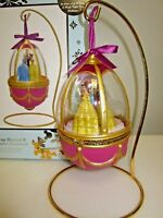 Disney Sketchbook Wind-Up Musical Princess Ornament Egg Belle NEW