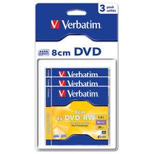 """Mini DVD+RW 4x Verbatim 8cms """"Matt Silver"""" Pack Blister 3uds"""