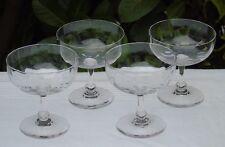 Baccarat - Lot de 4 coupes à champagne en cristal à côtes vénitiennes