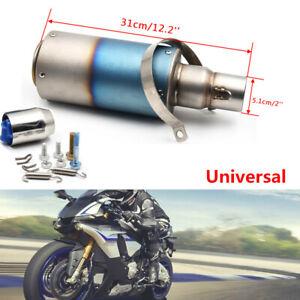 "51MM 2"" S. Steel Motorcycle Scooter Street Dirt Bike Exhaust Muffler Tail pipe"