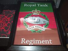 THE ROYAL TANK REGIMENT FRAMED CREST PRINT A4