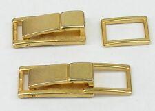 2 Schließen / Karabinerhaken 3,1 x 1,2cm gold rostfrei !! NEU !!   00.69m