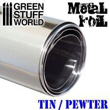 Lamella di STAGNO metallo flessibile 10x45cm - Materiale malleabile - Hobby