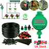 Garden Micro Drip Irrigation System Automatic Timer 25M Hose Sprinkler Drippers