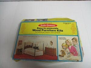 Vintage 1974 Real Life Miniatures Heritage Series Bedroom Wood Furniture Kit