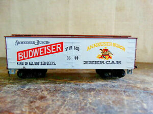 Vintage HO Tyco Anheiuser-Busch Budweiser Beer Car STLR&CO 3600 40' Reefer