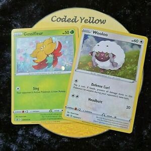SWSH010 Gossifleur & SWSH011 Wooloo | 2 x HOLO PROMO Cards | Pokémon TCG | New