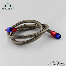 8AN Oil Cooler Stainless Steel Braided Oil Fuel Line Hose Fitting End Adapter