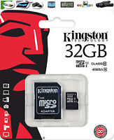 32GB Kingston Scheda di memoria Micro SD PER SAMSUNG GALAXY J5 cellulare