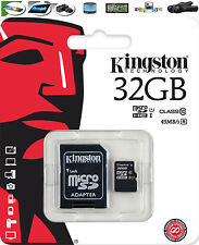 32GB kingston micro sd sdhc classe 10 carte mémoire pour go pro hero 5 caméra