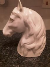 Vintage horses head porcelain, 9 inches tall, white