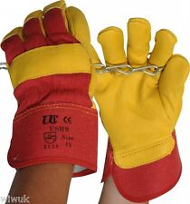 High quality COW GRAIN leather work Canadian rigger gloves Size 10 XL X-Large