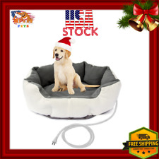 Luxury Small Dog Electric Heating Bed Padded Heated Water Resistant For Pet Cat
