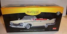 SUN STAR 5401 1960 PLYMOUTH FURY OPEN CONVERTIBLE BUTTERCUP 1/18 DIECAST YELLOW