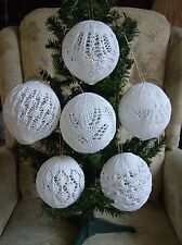Diamond Dust Collection - 3-D Christmas Tree Decorations/Trims Knitting Pattern