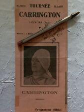 Affiche Programme Officiel Cirque Magie « Tournée Carrington « De 1956