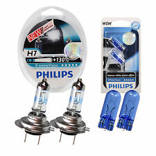 SET Philips X-treme Vision +130% 2x H7 White Vision Xenon Ultimate W5W