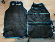 Auto Rückenlehnenschutz schwarz blau 2 Stück mit Taschen