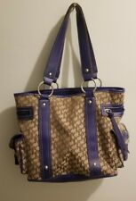 Women's New York and Company Blue and Brown Purse