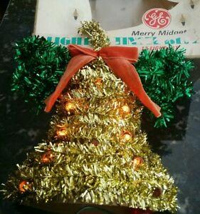 Vintage Christmas Bell Wreath Electric Lights Japan Gen Electric Works Orig Box