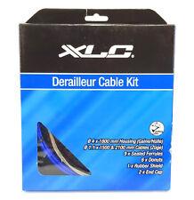 XLC Derailleur Cable Kit, Road or Mountain Bike MTB, Blue Housing