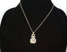 Carolee Silver-Tone Pendant with Cystals Necklace, Reatil $50
