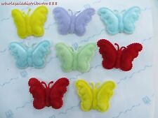 "US Seller- 20double layer butterfly felt padded applique embellishment 1.85""x 2"""