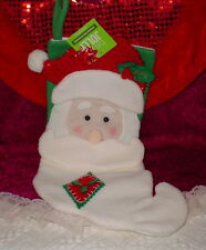 BE JOLLY CHRISTMAS STOCKING * RED HAT WITH SANTA ** 20  INCH ** NEW **