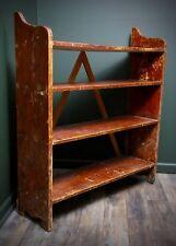 Antique Vintage Primitive Industrial Wooden Shoe Clothing Book Rack 4 tier Shelf