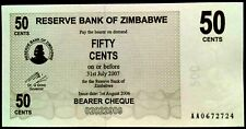 Brand New 50 Cents Banknotes  2006 Bearer cheque*AA0672724*(P-36)Notes x 1 UNC