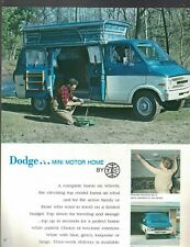 Dodge Mini Motor Home Brochure 1970 TEC Great Chrysler Item