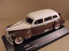 iST 1/43 Diecast 1948 ZIS 110 Brown and White Russian Taxi  #IST 093