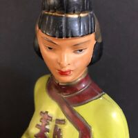 Alexander Backer ABCO Chalkware Figure Asian Women Made USA Mid Century Decor