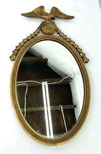 Vintage Patriotic Eagle Oval Mirror