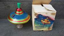 VINTAGE SOVIET WHIPPING TOP TIN TOY + BOX
