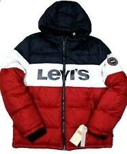Men's Levi's Spell Out Puffer Jacket (LM9RN780) Red, White & Blue - XL