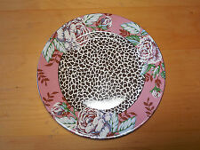 Queen's China India FLORAL & CHEETAH Set of 7 Salad Plates 8 5/8""