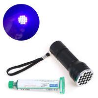 10ml Green UV solder mask PCB BGA soldering welding fluxes oil+uv curing lightPL