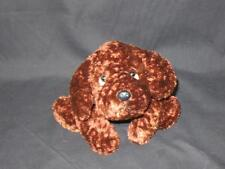 """TARGET STORE PLUSH BROWN PUPPY DOG LOVEY TOY CHOCOLATE LAB FLOPPY BEANBAG 10"""""""