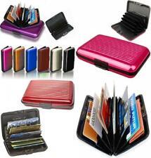 Aluminum Aluma Hard Case Credit Cards Wallet 5x3x0.5 inches, Assorted
