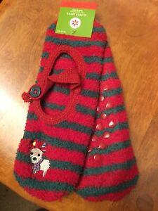Christmas Novelty Slipper  Socks Women One Size Fits Most NWT
